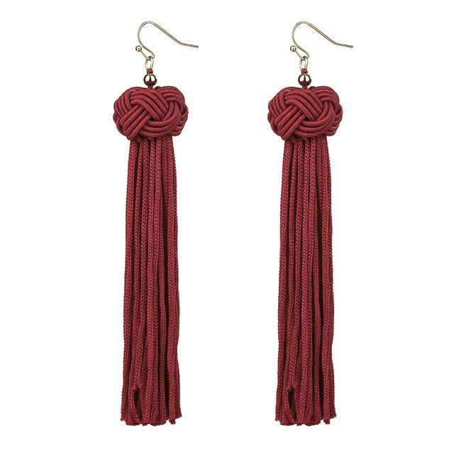 Crazy Feng Handmade Tassel Earrings