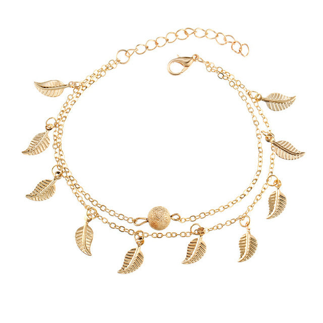 IF ME -New Fashion Bohemian Leaf Anklets For Women