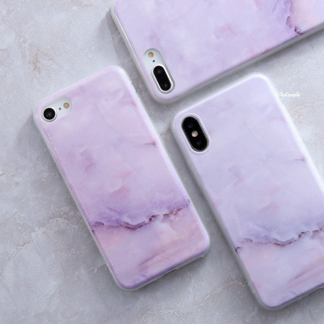 SoCouple Granite Scrub Marble Stone Painted Silicone Phone Case