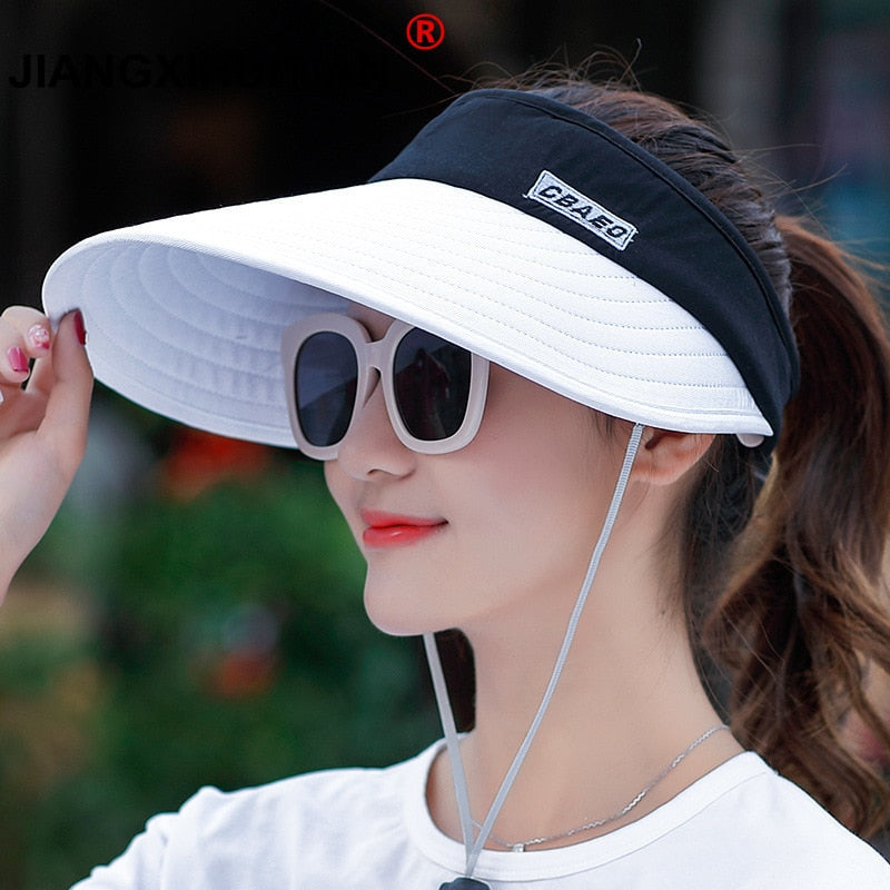 Packable Sun Visor with Big Brim