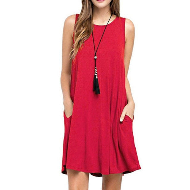 Summer Sleeveless Boho Dress