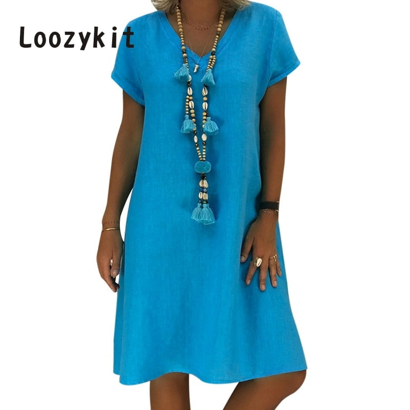 LOOZYKIT Summer Short Sleeve Dress