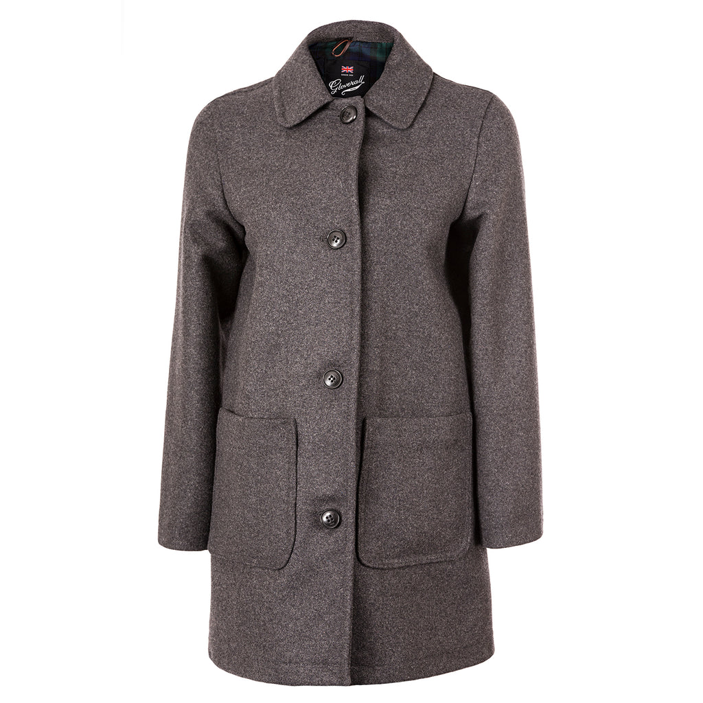Charcoal Casual Overcoat