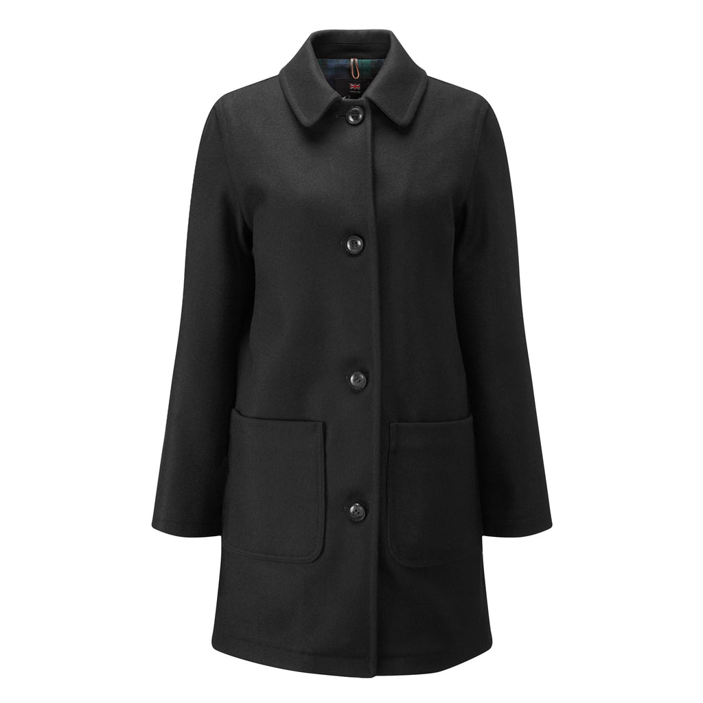 Black Casual Overcoat