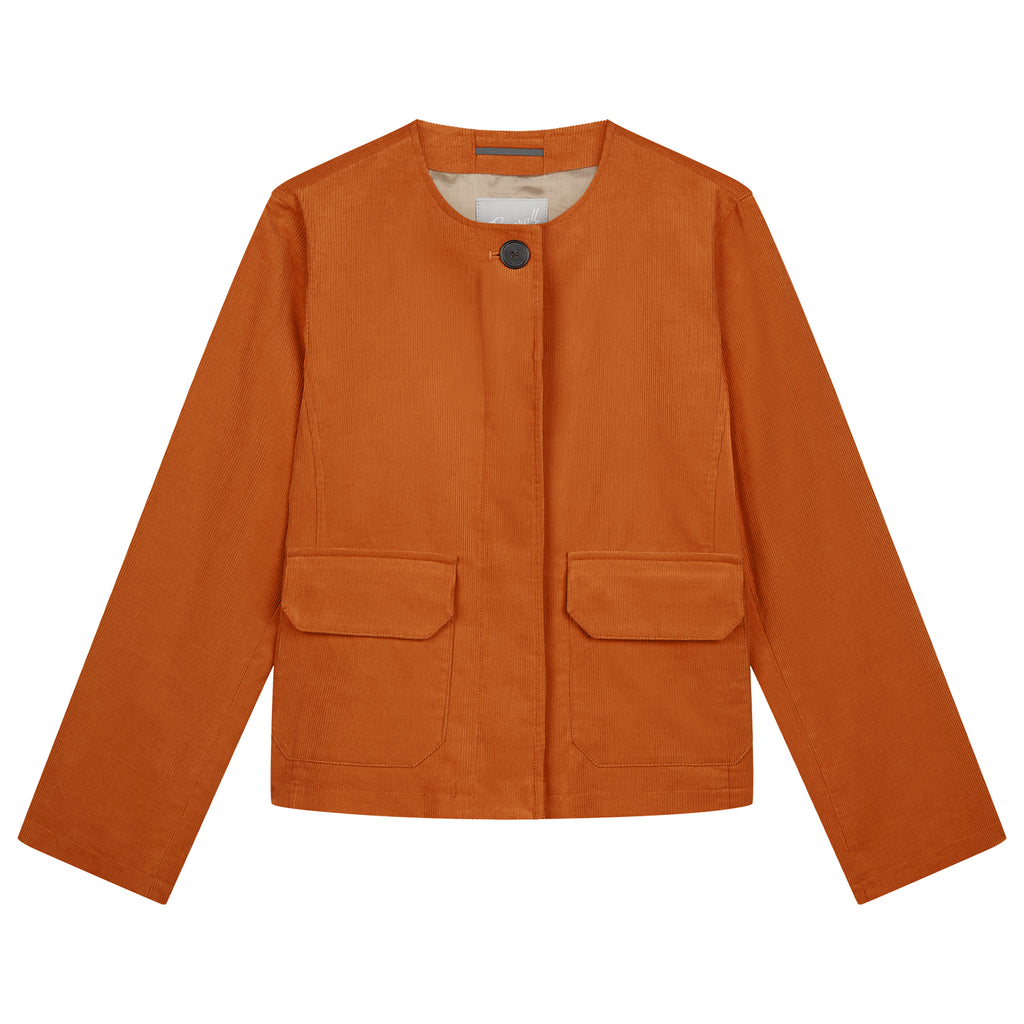 Jane Corduroy Jacket in Ginger