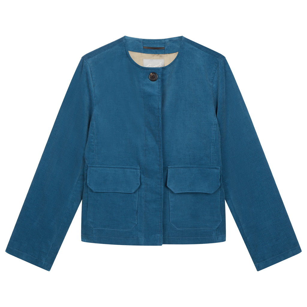 Jane Corduroy Jacket in Petrol