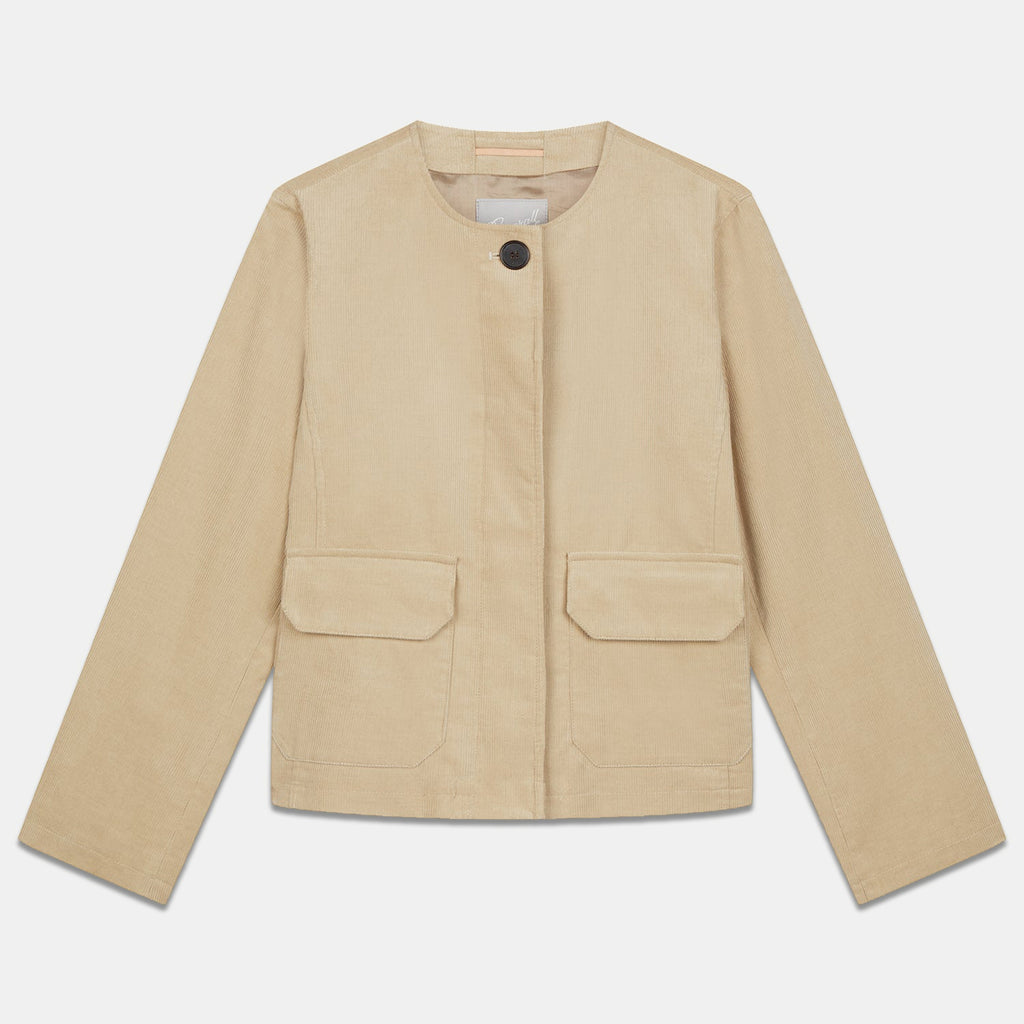 Jane Corduroy Jacket in Stone
