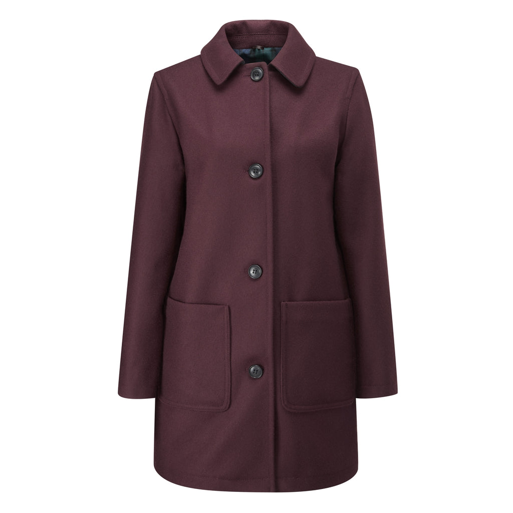 Burgundy Casual Overcoat