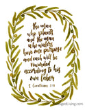 FULL COLLECTION of 12 Seasonal Florals & Typography Scripture Prints for Digital Download