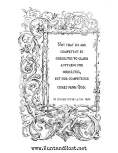 2 Corinthians 3:5 Digital Download for Print