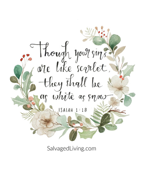 Limited Time: Isaiah 1:18 Print for Digital Download