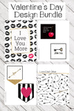 Valentine's Day Black and White Printable Bundle