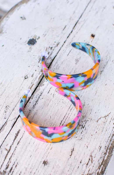 Becoming You Colorful Hoop Earrings
