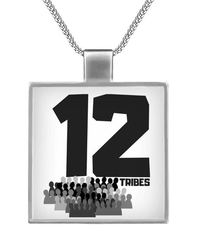 12Tribes Aluminum Chain Square Necklace