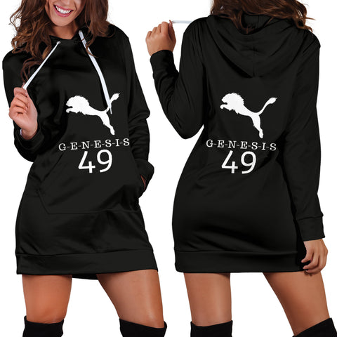 JF White Lion Hoodie Dress