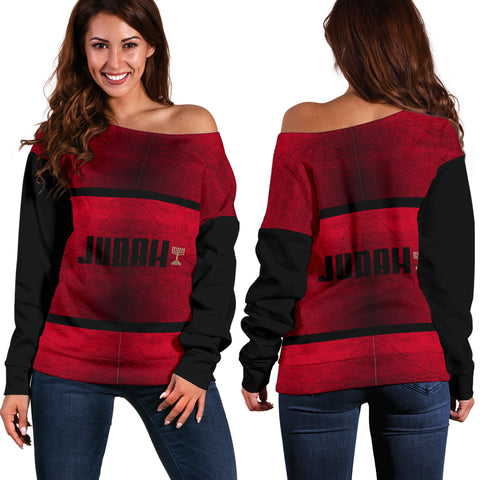 JF 'Tribe of Judah' Off Shoulder Sweater