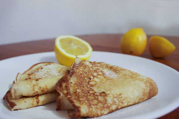 Home-grown Lemon Pancakes