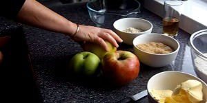 Making Apple Crumble