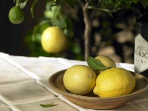 Lemons in a Bowl on a Counter