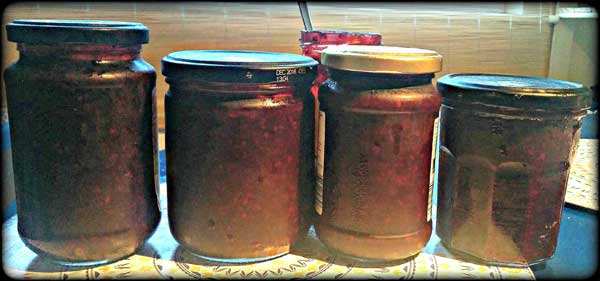 blackberry jam jars