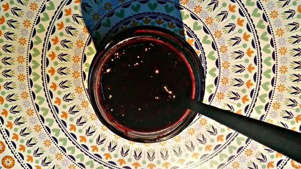 blackberry jam spoon