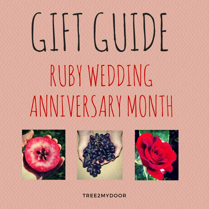 Ruby Wedding Anniversary Gift Ideas Gifts For A 40th Anniversary