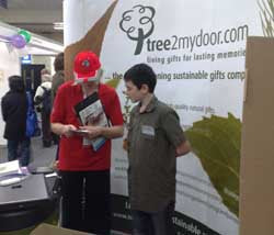 The Tree2mydoor Stand at UKAWARE