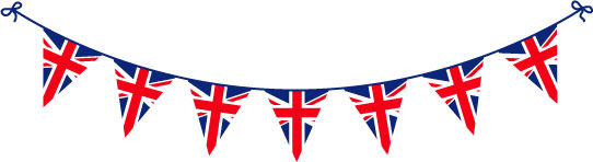 Union Jack Bunting - British Food Fever!
