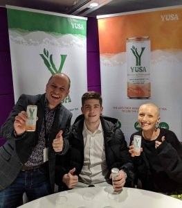 Thumbs up for the Yusa Drink