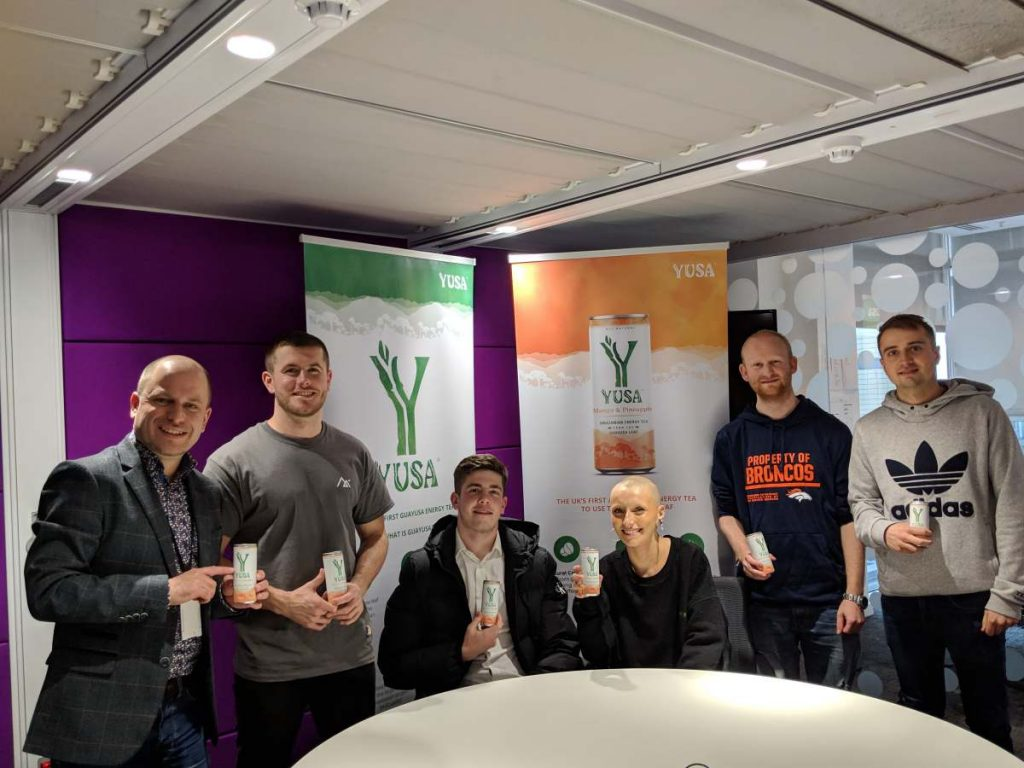 Yusa Drink Taste Test Group Photo