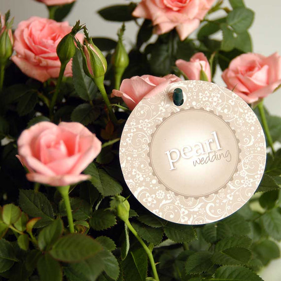 Pearl Wedding Indoor Rose Label