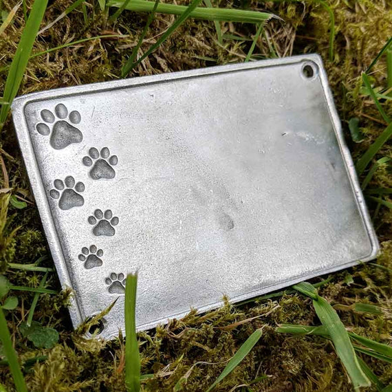 Blank Pet Memorial Plaque