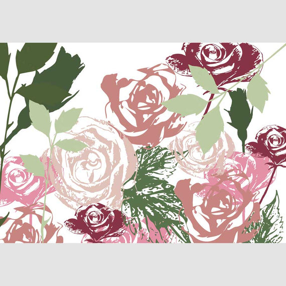 Floral Roses Greetings Card (generic)