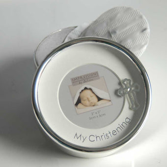 Silver Plated Christening Trinket Box