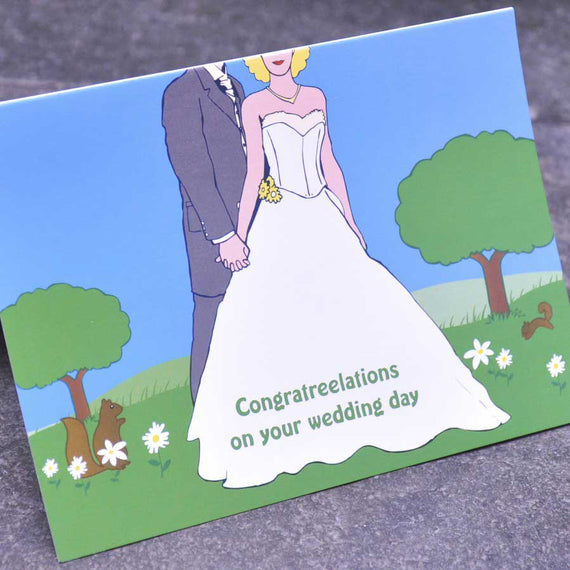 Wedding Card - Congratreelations