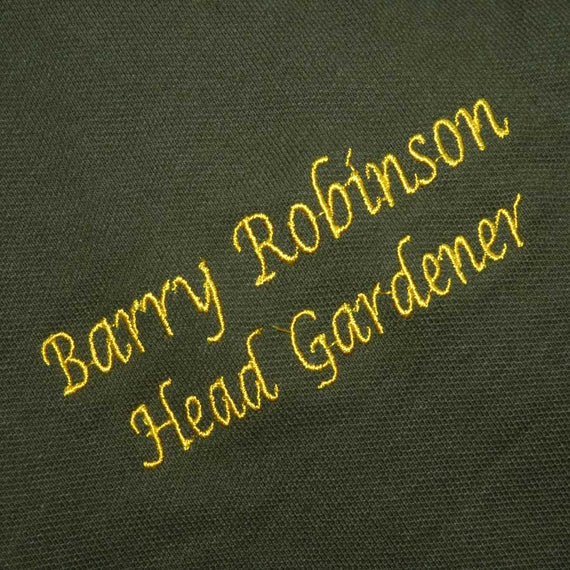 Personalised Head Gardener Polo Shirt (green)