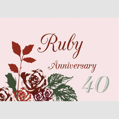 Ruby Anniversary Cards