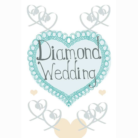 Diamond Anniversary Greetings Cards