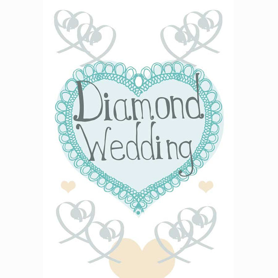 Order a Diamond Wedding Anniversary Card