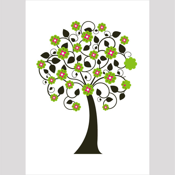Tree Design Greetings Card