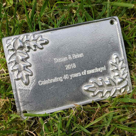 Engraved 40th Wedding Anniversary Plaque
