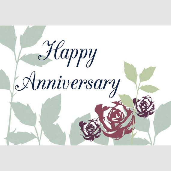 Happy Anniversary Greetings Card (roses generic)