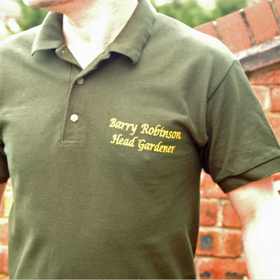Personalise a Head Gardener Polo Shirt