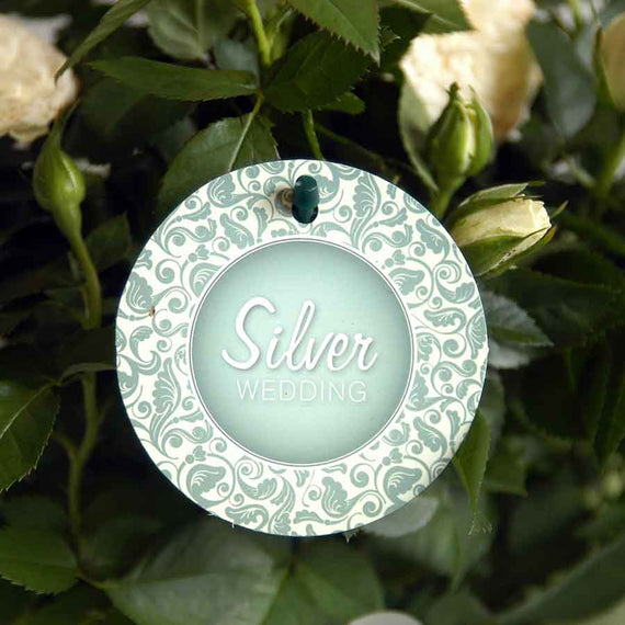 Silver Wedding Indoor Rose Label