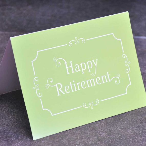 Personalise a Retirement Card