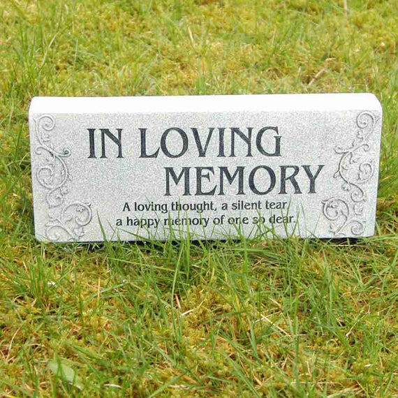In Loving Memory Memorial Block