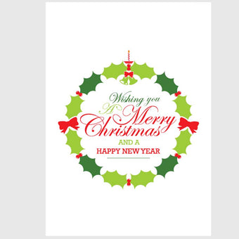 Holly Christmas Greetings Card