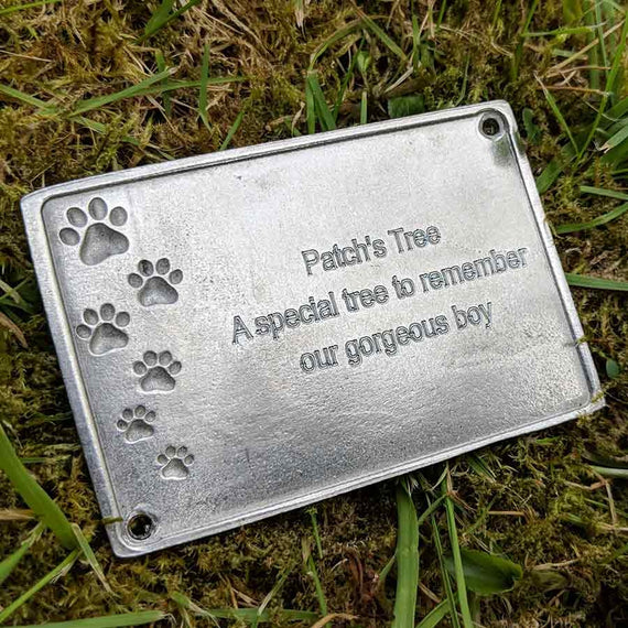 Engraved Pet Memorial Plaque