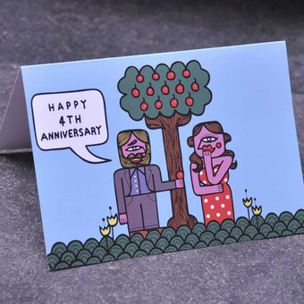 4th Fruit Wedding Anniversary Card