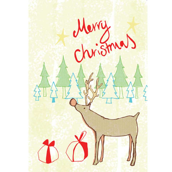 Add a Christmas Card (Rudolf design)